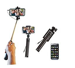 High Quality One Piece Wired Extendable Smartphone Selfie Stick Handheld Monopod for iPhone, Andriod Phones, for iPhone 4,4s,5,5c,5s,6,6 Plus or Samsung Galaxy S2,S4,S5,S6 Edge, Note 2,3,4