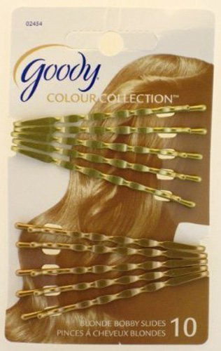 Goody WoMens Colour Collection Wavy Bobby Slides, Blonde, 10 Count product image