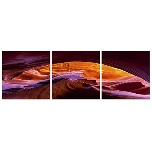 Arizona Frame (FURINNO FHS8AC50 Arizona Canyon Antelope 3-Panel Canvas on Wood Frame)