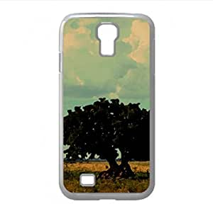 lintao diy Tree With Big Roots Watercolor style Cover Samsung Galaxy S4 I9500 Case (Landscape Watercolor style Cover Samsung Galaxy S4 I9500 Case)
