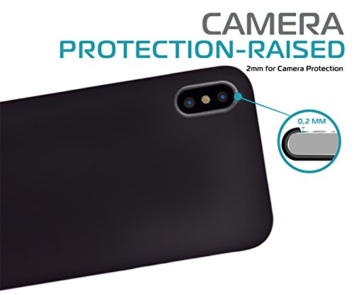 IPhone-x-case-Premium-matte-finish-back-light-weight-slim-fit-TPU-with-excellent-grip-for-IPhone-x-shock-absorption-protective-IPhone-10-case-cover-supports-wireless-charging