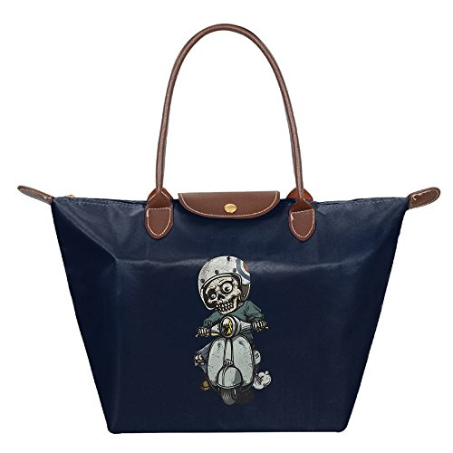 Folding Dumpling Bag Top Handle Handbag Women's Satchel Shoulder Shopping Gripesack Zombie Nylon - Columbus Center Shopping
