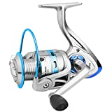 Hunter's Tail Carrete de Pesca de Cola de Cazador, carretes de Pesca giratorios, Piezas de Mango de Agua Dulce Doble rodamiento Ligero de fundición Suave 5.2: 1peso Ligero, Ultra Suave Potente