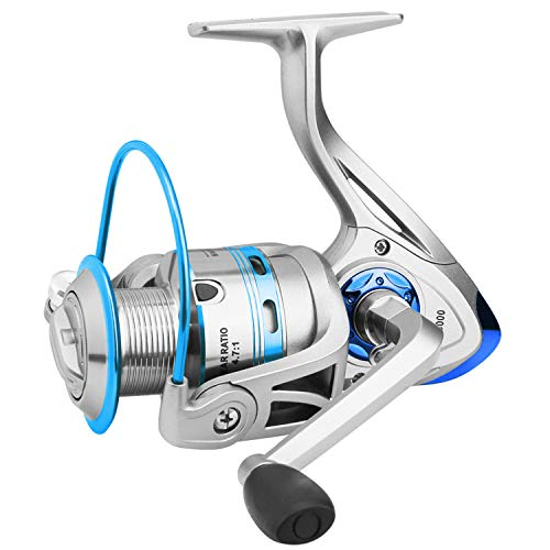 Fishing Reel, Spinning Fishing Reels Handle Parts Saltwater Freshwater Double Bearing Light Smooth Casting 5.2:1Light Weight Ultra Smooth Powerful ()