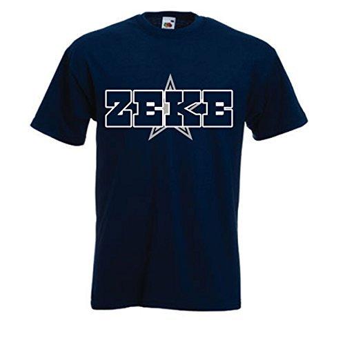 "Navy Zeke Dallas ""ZEKE LOGO"" T-Shirt YOUTH MEDIUM"