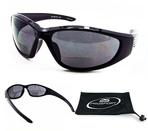 Polarized Bifocal Sunglasses 2.50 with Premium 1.1mm TAC Polarized Lenses and Sport Full Wrap Around Frame. Free Microfiber Cleaning Case Included. Overdrive