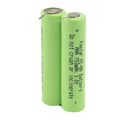 Kastar New Ni-MH Battery with PINs, 2.4V 750mAh for Philips Sonicare Diamond Clean HXHX6240 HX-6240-05 150923 2B Toothbrush Repair Replacement Battery