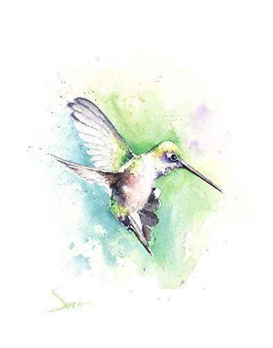 Hummingbird Original Watercolor art