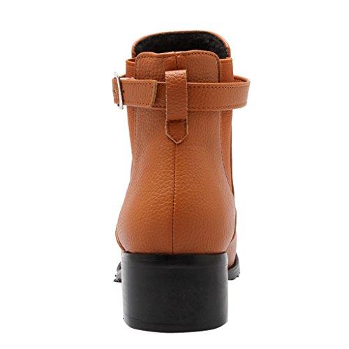 Stivaletti Con Cinturino Alla Caviglia Con Cinturino Con Fibbia Eclimb 3 Colori Giallo