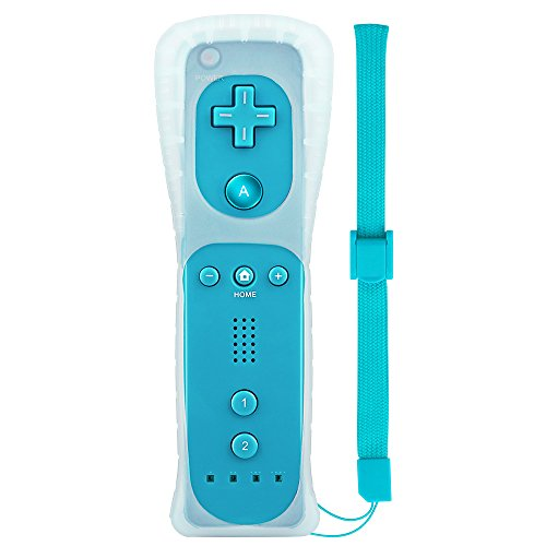 Maliralt Wii Remote Controller, LP03 Wireless Wii Game Remote Control with Free Silicone Case and Wrist Strap for Nintendo Wii and Wii U - Cyan (Third-Party Product) (Wii Games Free)