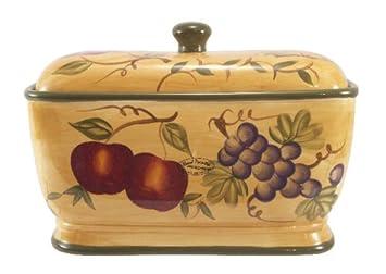 Tuscany Mixed Fruit Ceramic Bread Box  sc 1 st  Amazon.com & Amazon.com: Tuscany Mixed Fruit Ceramic Bread Box: Ceramic And ... Aboutintivar.Com