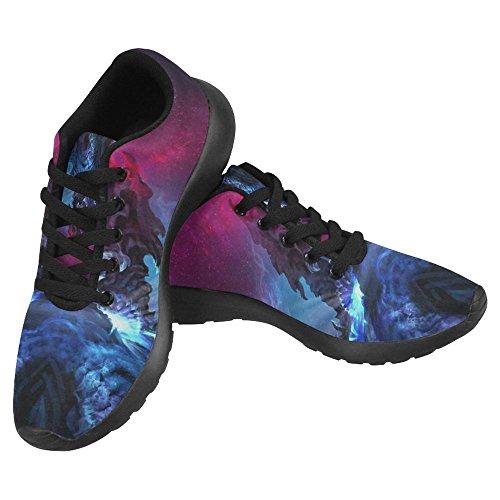Interestprint Mujeres Footing Running Sneaker Ligero Go Easy Walking Casual Comfort Zapatos Para Correr Un Enorme Dragón Negro Ojos Brillantes En El Estilo Gótico Multi 1