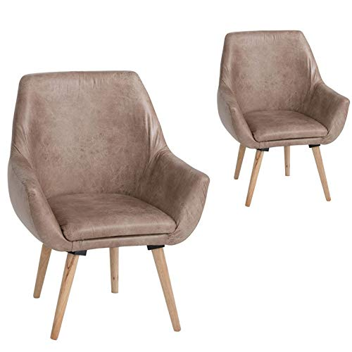 Tousmesmeubles Vava Duo de sillones (Piel sintética, 67 x 62 ...