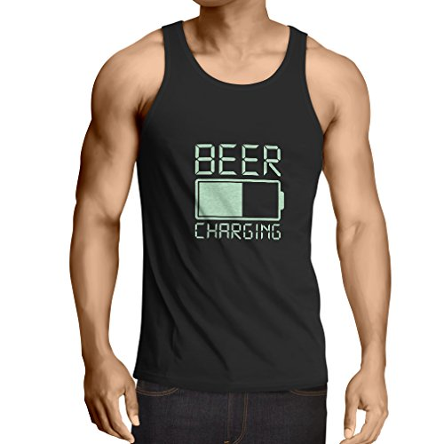 lepni.me Vest Getting Drunk, Humor Alcohol Drinking Apparel, Funny Gift Ideas for Beer Lovers (XX-Large Black Fluorescent)