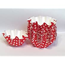 Floret Brioche Cup, Red with White Dots Disposable Bakeware Floret Brioche Cup, Red with White Dots Bake and serve brioche self- standing mold, -100 pc.
