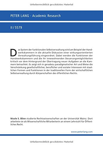 Die Aufgabendelegation an die Handwerkskammern als wirkungsorientierte Verwaltungsführung (Europäische Hochschulschriften Recht) (German Edition)