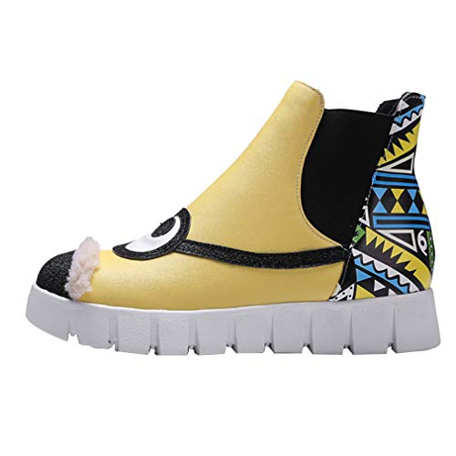 Chaussures Jaune 5 3 Tirez Femme Round Ballerines vadxrt ToeCM sur Vaneel xn16gwHzH