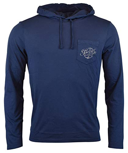 - Polo Ralph Lauren Men's Long Sleeve Graphic Jersey Hoodie - M - Navy Blue
