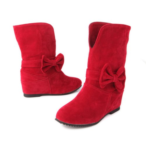 CH&TOU Da donna-Stivaletti-Casual-Comoda-Piatto-Felpato-Nero Marrone Rosso , red , us9 / eu40 / uk7 / cn41