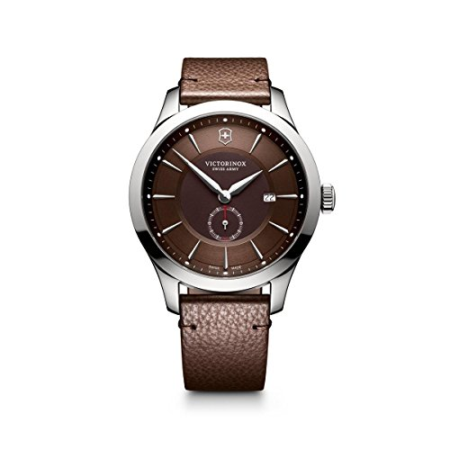 Victorinox Alliance Brown Dial Brown Leather Mens Watch 241766