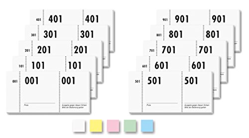 Sigel GN110Number Ticket Book 1000Bons (Numbered 1–100010,5x5cm No Colour Choice) by Sigel (Image #1)