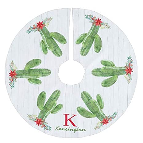Co5675do Christmas Tree Skirt Santa and Seahorse Sleigh Brushed Polyester Tree Skirt 30 inch