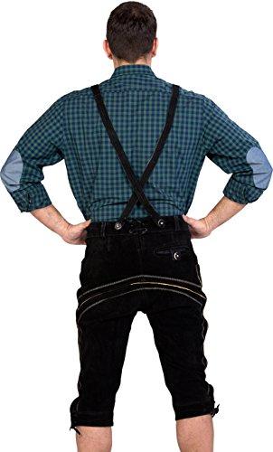 Almwerk neri pelle in uomo Pantaloni da B4S8qBCw