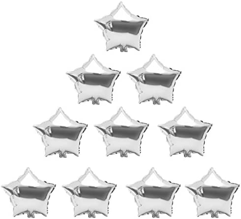 Colcolo デコレーションエンゲージメントのための10個のバルーンボールシェイプイーンスターのキット - 銀