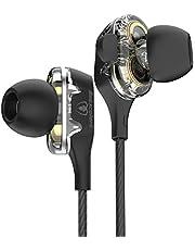 Beexcellent Auriculares In-Ear Diseño translúcido, Doble Efecto y Potencia de Cuatro Núcleos, para Smartphones/PC/iPad/iPod/ MP3/ MP4 …