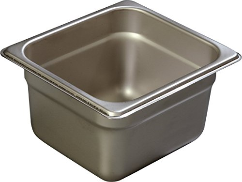 Carlisle Heavy Gauge - Carlisle 608164 DuraPan Heavy 22-Gauge 18-8 Stainless Steel Sixth-Size Food Pan, 2.6 qt. Capacity, 6-7/8 x 6-1/4 x 4