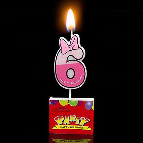 1 piece Number 0 the 9 Decoration Cake show Party Cupcake Mouse Cartoon As picture Candle ()
