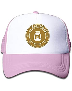 The Railroad On Kids Trucker Hat, Youth Toddler Mesh Hats Baseball Cap
