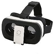 Deepoon 3D VR Lunettes 3D Réglable Casque de réalité virtuelle pour Film 3D Jeux Vidéo Google Carton 3D Casque 360 Affichage de Réalité Virtuelle immersive Compatible avec 4.7 -- 6.0 Smartphone Android iPhone Samsung etc
