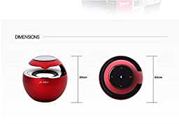 CANSTON FD W18BT SWAN Portable Bluetooth Wireless Speaker LED Touch Red