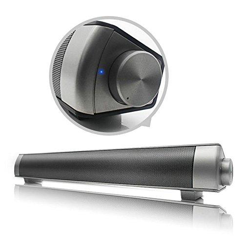 Sound Bar Wireless Bluetooth 3.0 Subwoofer LP-08 Mini Stereo Speaker by KOTA Computer/TV Support 3.5mm AUX, USB Input, Smartphone, iPad