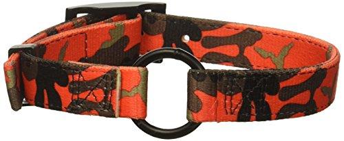 Hunting camo collars Bravo Camouflage 2-Ply Nylon Dog Collars Orange, 1 x 23-Inch
