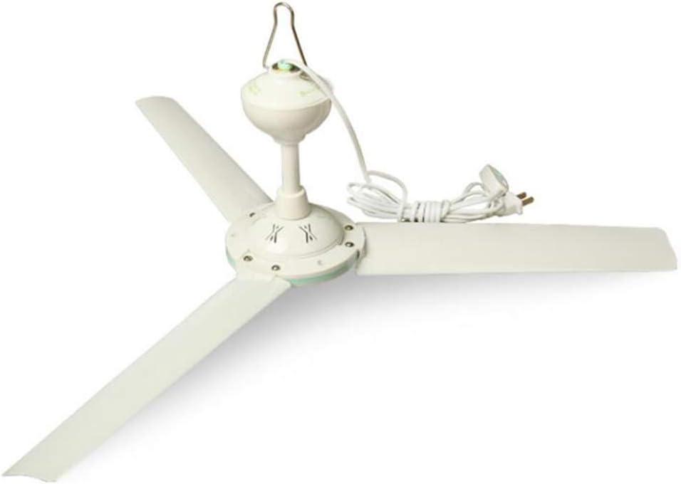 Ventilador de techo peque/ño Que Ahorra Energ/ía Brisa Ultra Silenciosa Ventilador De Techo De Tres P/áginas Dormitorio De Estudiantes Mosquitera,White,50cm