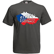 lepni.me T Shirts For Men Evolution Football - Czech Republic