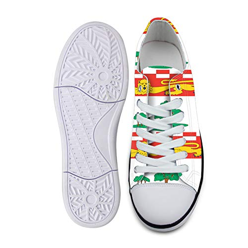 Canvas Low Top Sneaker Casual Skate Shoe Mens Womens Federal Birthplace Prince Edward Island Flag -37