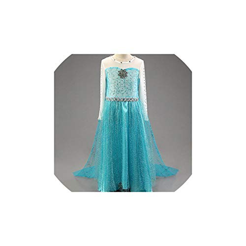 Girl Costume Anna Dresses Cosplay Party Fancy Baby Clothes Elza,Style 5,7]()