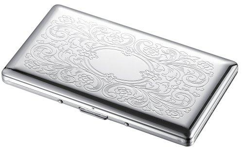 Visol Sylva Floral Pattern 120s Cigarette Case (Single Cigarette Case Sided)