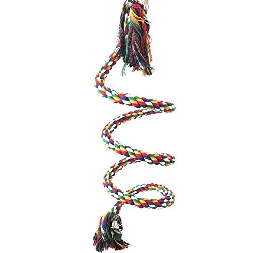 Alfie Pet by Petoga Couture - Zaire Climbing Rope with Bell for Mouse, Chinchilla, Rat, Gerbil and Dwarf Hamster - Size: S