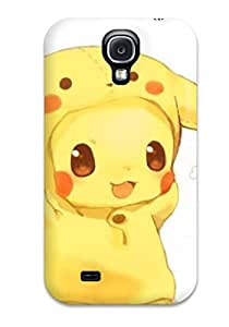 New Arrival Cover Case With Nice Design For Galaxy S4- Pokemon Cute Pikachu