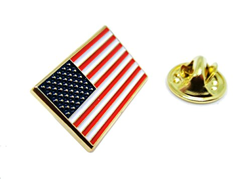 US Flag Lapel Pin - Proudy Patriotic American - USA Patriot (Tattoo Rectangle Magnet)