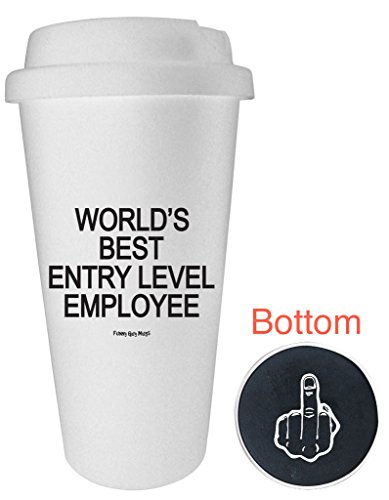 Funny Guy Mugs World's Best Entry Level Employee Travel Tumbler, White, 16-Ounce