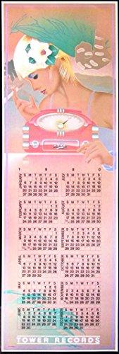 Art Lithograph Rare (Tower Records Poster Calendar Smoking Blonde Frank Carson 1980 B100 FM Radio)