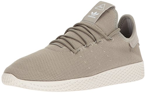 adidas Originals Men's Pharrell Williams Tennis HU Running Shoe Tech Beige/Chalk White, 4 Medium US by adidas Originals (Image #1)