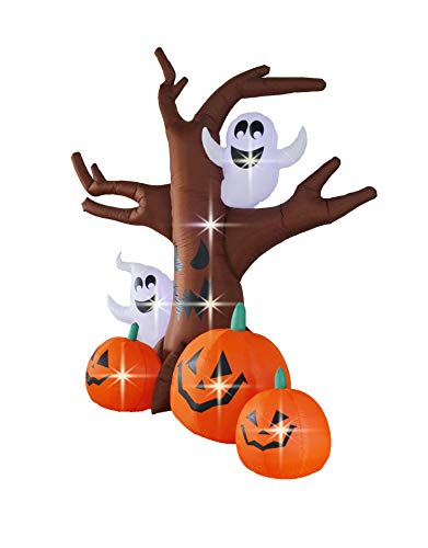 Bigjoys 8 Ft Halloween Inflatable Tree with Ghost Pumpkin Decoration for Indoor Outdoor Home Yard Party by Bigjoys (Image #2)