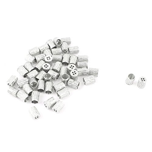 DealMux 50Pcs Mould Parts Stainless Steel Slotted Type Core Box Vents 4x5.5mm