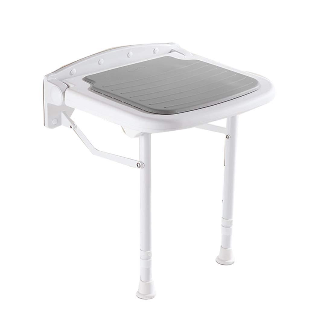 バスルーム折りたたみ式シャワースツールシートウォールチェアウォールベンチパッド入りABSクッション3色オプションのノンスリップバスルーム風呂スツール B07GJWZPJ2 42.5センチメートル|Gray Gray 42.5センチメートル